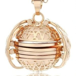 NEW Rose Gold Ball Locket Necklace Pictures Memory